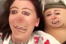 Meme Face App - woman face swaps with friend s boob using app in hilarious viral