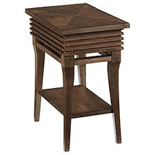 Chair Side Table With Storage Hammary Groovy Charging Chairside Table With Shelf And Drawer