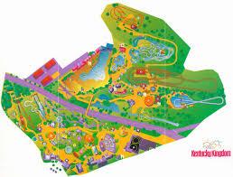 Kings Dominion Map Kentucky Kingdom Park Maps 1990 U0026 1995 Theme U0026 Amusement Parks