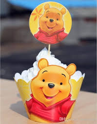 Christmas Cake Decorations Shop by Movie Winnie The Pooh Cupcake Wrapper Decorating Boxes Cake Cup