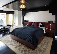 Teak Wood Bed Designs Masculine Master Bedroom Round Hanging Lamp Beside Round Ottoman