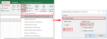 how to delete extra empty or blank pages in a worksheet in excel