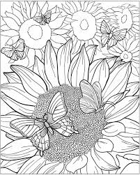Best 25 Sunflower Coloring Pages Ideas On Pinterest Geometric Sunflower Coloring Page