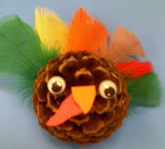 preschool crafts for kids thanksgiving pine coneturkey craft