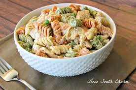 ranch chicken pasta salad new south charm