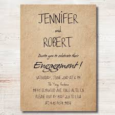 party invitations simple rustic personalized engagement party invitation cards