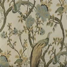 Upholstery Phoenix Grand Phoenix Celery Jacquard Floral Bird Upholstery Fabric 45368