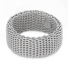 bracelet mesh silver sterling images Sterling silver women 39 s mesh ring wholesale pure 925 jpg