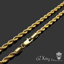 golden chain necklace men images Custom mens gold chain designs 18k gold plated 8mm rope chain jpg