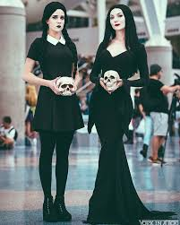 Black Jesus Halloween Costume Cosplay Addams Morticia Wednesday Ideia Addams Family