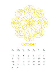 free mandala october 2016 calendar coloring queenmandala com