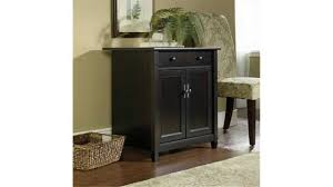 sauder edge water utility cart free standing cabinet estate black