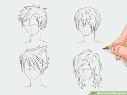 spiky anime hairstyles how to draw manga hair 7 steps with pictures wikihow