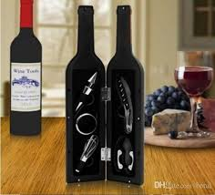 wine sets 2018 5 in 1 wine bottle shaped gift set bottle opener stopper drip