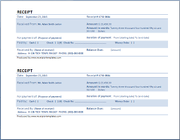 free payment receipt template 2 receipt templates