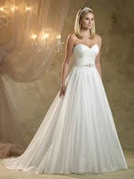 pretty wedding dresses a line sweetheart chiffon sweep white ruffles wedding