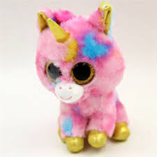 ty beanie boos big eyes small unicorn plush toy doll kawaii