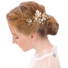 hair jewellery vintage gold twig hair bridal headpiece wedding accessories