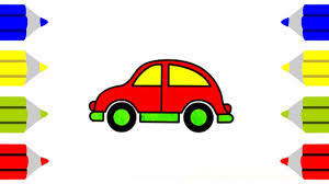 how to draw car coloring pages kids learn drawing art colors