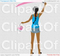 painting a wall royalty free rf clipart illustration of a rear view of ahispanic
