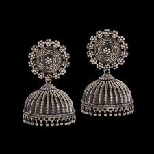silver earrings necklace images Plain silver earring at rs 6000 pair s sade chandi ke kan ki jpg