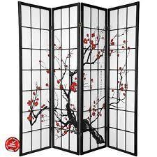 1110 4 legacy decor oriental room divider screen plum blossom