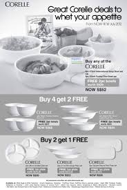 Corelle Outlets Corelle 1 Jun 2012 Corelle Kitchenware Promotions 1 Jun U2013 1 Jul