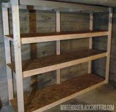 Simple Wood Shelves Plans by Cheap Garage Shelves Ideas How To Make A Basement Storage Shelf
