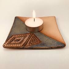 candle holder trinket dish jewellery dish green dish ceramic