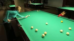 How To Play Pool Table Samara Samara Region Russia December 06 Little With Mom