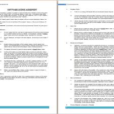 licensing agreement template free agreement templates business contract templates part 3