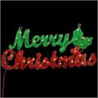 outdoor lighted merry sign decore