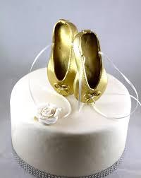 ballerina cake topper gold ballet shoes cake topper birthday cake
