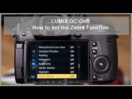 zebra pattern lumix lumix how to set the zebra function dc gh5 dc g9 youtube