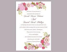 Diy Wedding Invitation Template Wedding Invitation Templates For Word Paperinvite