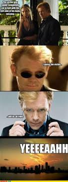 Csi Glasses Meme - csi miami puns