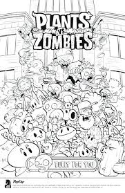 printable plants vs zombies coloring pages chomper all line superb