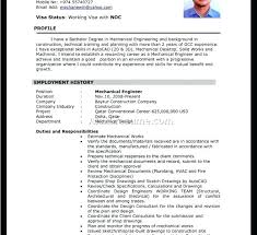 sample cv for experienced sample resume of experienced mechanical engineer download