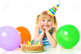 portrait of cute little with birthday u0027s cake stock photo