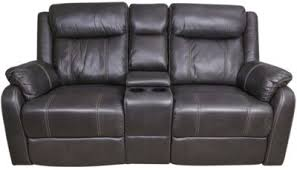 klaussner domino reclining loveseat with console homemakers
