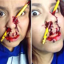 31 days of halloween pencil accident makeup halloween makeup