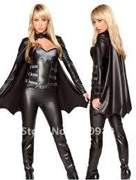 3 pieces superhero costume halloween bat women costume