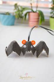 adorable halloween egg carton bat loganberry handmade