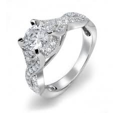 engagement rings sterling silver vintage style cubic zirconia engagement rings