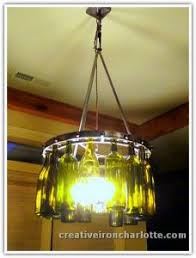 lights made out of wine bottles creative iron designs