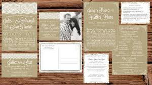 burlap wedding invitations impressive burlap and lace wedding invitations theruntime
