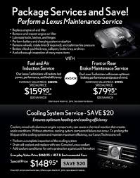 lexus value service winter promotion lexus of oakville