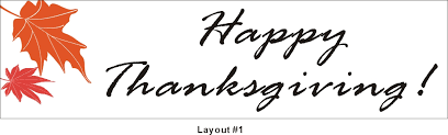 2ftx7ft happy thanksgiving banner sign graphics