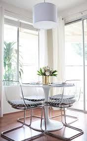 small round dining table ikea clear chairs that have minimal visual weight and a round table for