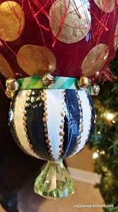 hand painted christmas ornaments black and white checks stripes